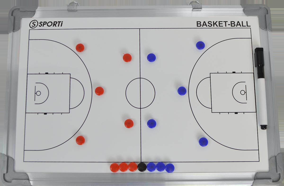 Petit tableau recto-verso basket 30x45cm