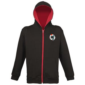 Sweat-shirt capuche zippé Varsity ENFANT-img-60954