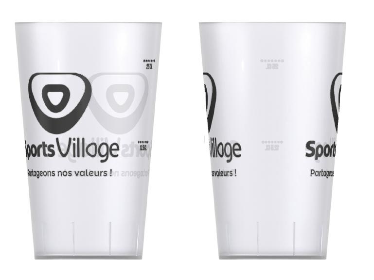 Eco cup personnalisables 25-30 CL (lot de 10 gobelets réutilisables)