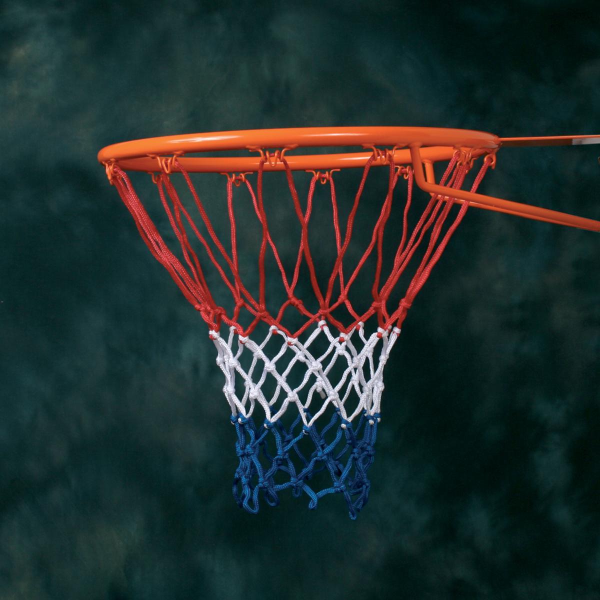 Filet basket PP 4mm bleu, blanc, rouge (la paire)